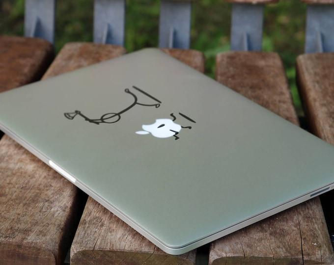 Axe Killer Decal Sticker, Vinyl Sticker Skin, Funny decals for your laptop, Murderer Murder, mac, Macbook Decal Sticker