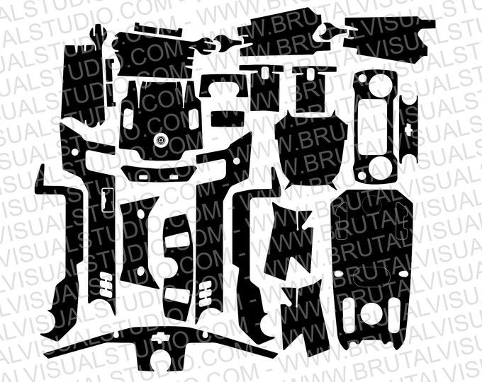 DJI Mavic 2 Pro / ZOOM - Skin templates for vinyl cutout or machining - Digital Download - Plotter, CNC, Laser Cutter - Drone Skin Cut File