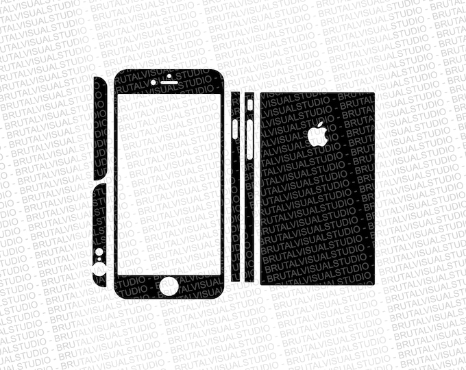 Iphone 6 Plus - Skin Cut Template  Ver.1 - Templates for cutting or machining - Digital Download - Plotter, CNC, Lasers - SVG - Fully Sliced