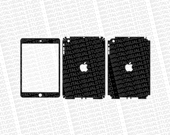 Apple iPad Mini Gen 1 - Skin Cut Template  - Templates for cutting or machining - Digital Download - Plotter, CNC, Laser Cutter - SVG