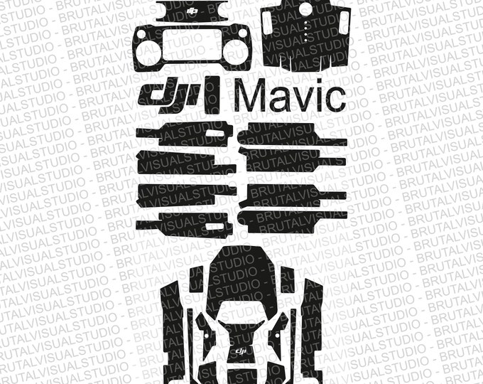 DJI Mavic Pro - Skin Cut Template  - Templates for cut or machining - Digital Download - Plotter, CNC, Laser Cutter - Drone Skin Cut File