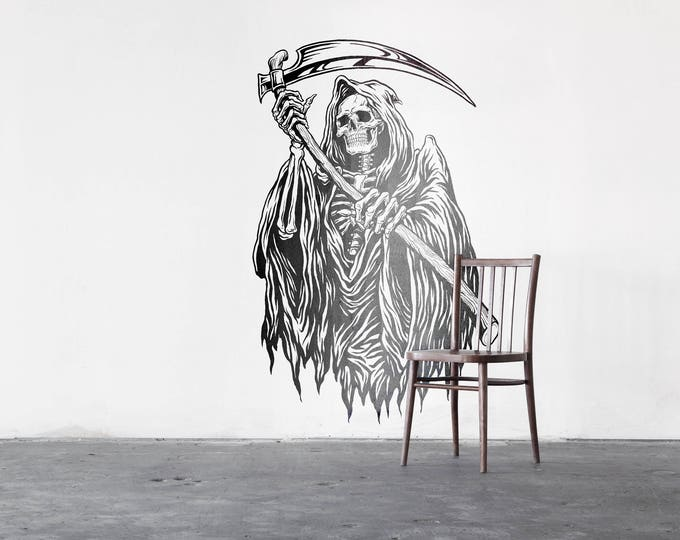 Grim Reaper - Wall decals for festive seasons, Halloween window stickers and decals, Angel of Death - Pale Death - Reaper
