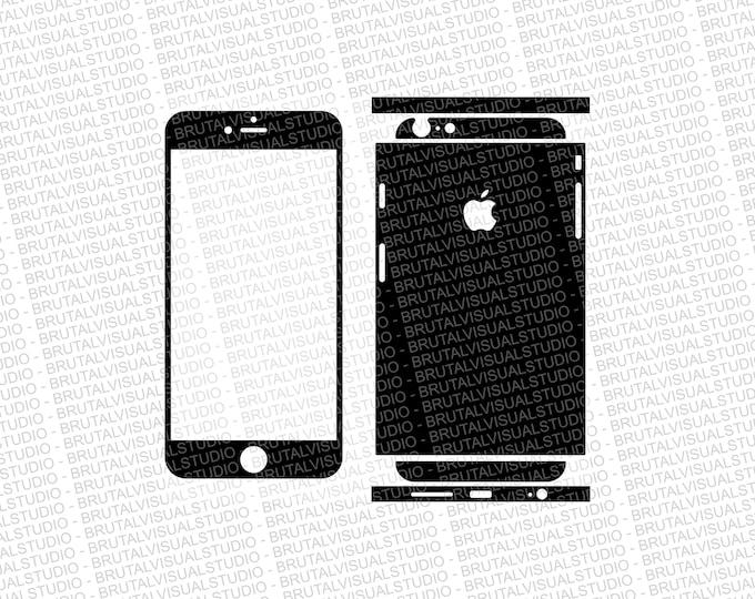 Iphone 6 Plus - Skin Cut Template  Ver.6 - Templates for cutting or machining - Digital Download - Plotter, CNC, Lasers - SVG - Sliced