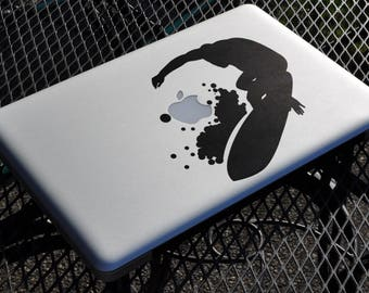 Surfer Decal Sticker, Vinyl Sticker Skin, Surf Summer Water Ocean Hot, Beach, mac, Macbook Decal Sticker