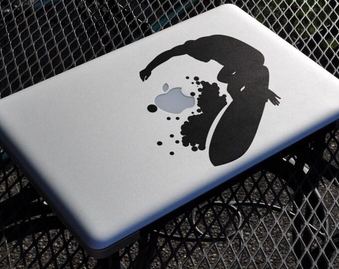 Surfer Decal Sticker, Vinyl Sticker Skin, Surf Summer Water Ocean Hot, Beach, mac, Macbook Decal Sticker