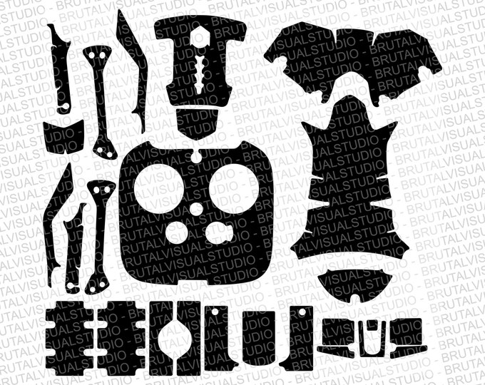 DJI Inspire 1 - Skin Cut Template  - Templates for cut or machining - Digital Download - Plotter, CNC, Laser Cutter - Drone Skin Cut File