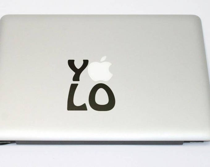 YOLOYou Only Live Once, Carpe Diem, Drake, Catch the Day, Seize the day, procrastinate, mac, Macbook Decal Sticker