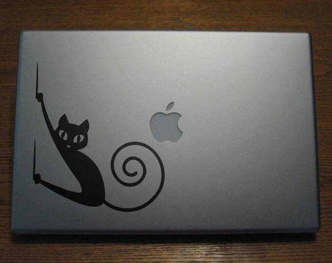 Bad Cat Decal Sticker, Laptop Skin, Bad Kitty, Scratch, Evil Cat, Bad Pussy Cat, mac, Macbook, Stickers, Macbook Decal Sticker