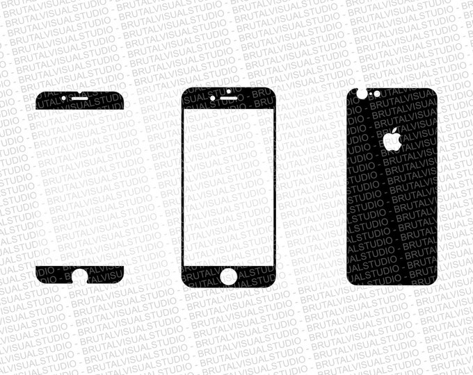 Iphone 6S - Skin Cut Template  Ver.4 - Templates for cutting or machining - Digital Download - Plotter, CNC, Lasers - SVG - Simple No Wrap