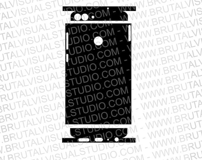 Huawei P Smart FIG LX1 - Skin Cut Template - Templates for cutting or machining - Digital Download - Plotter, CNC, Lasers - SVG - Full Wrap