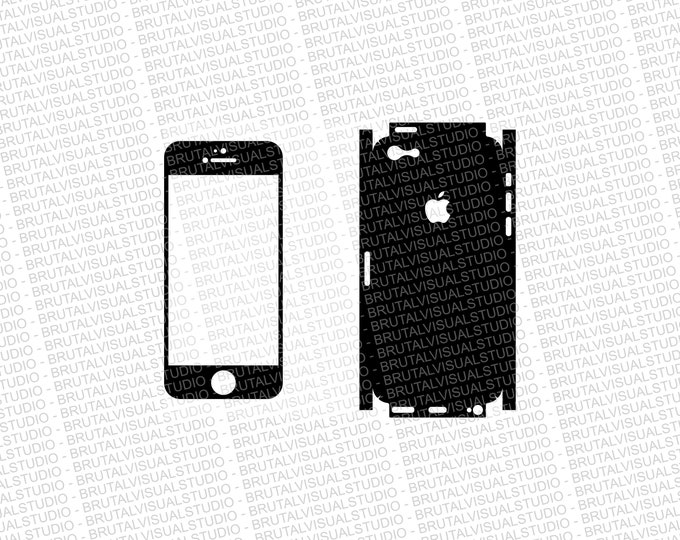 Iphone 5C - Skin Cut Template - Templates for cutting or machining - Digital Download - Plotter, CNC, Lasers - SVG - Full Wrap Version
