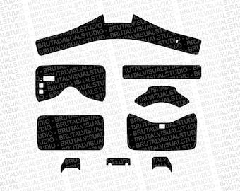 DJI Goggles - Skin Cut Template  - Templates for cut or machining - Digital Download - Plotter, CNC, Laser Cutter - Drone Skin Cut File