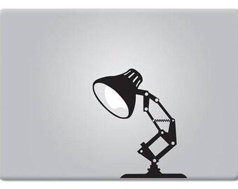 Desk Lamp, Pixar Style Lamp, Decal Sticker, mac, Lamp, Macbook Sticker, pixar decal, macbook pro, macbook air, Macbook Decal Sticker
