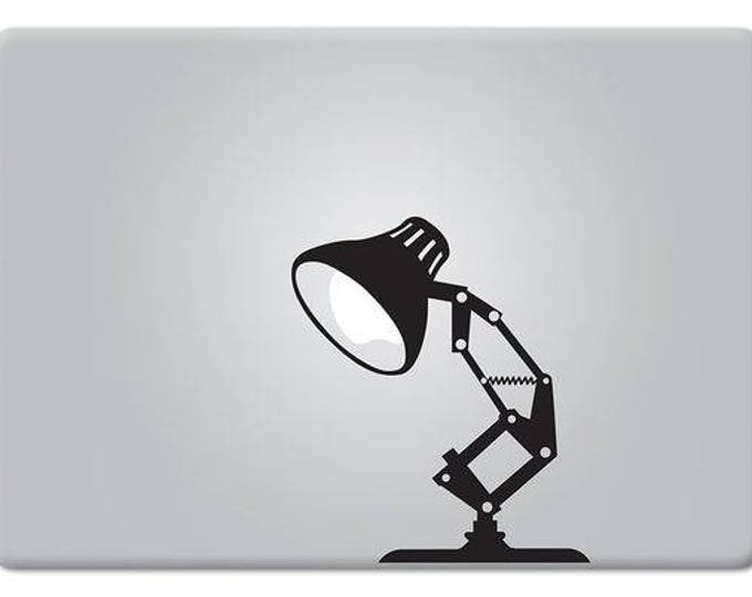 Desk Lamp, Pixar Style Lamp, Decal Sticker, mac, Lamp, Macbook Sticker, pixar decal, macbook pro, macbook air, Macbook Decal Sticker
