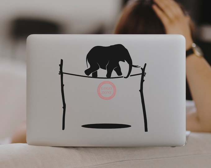 The Elephant and the Rope - Laptop Decal, Sticker, Motivational and Inspiring macbook or other laptops decals - 2 decal sets - FREE SHIPPING