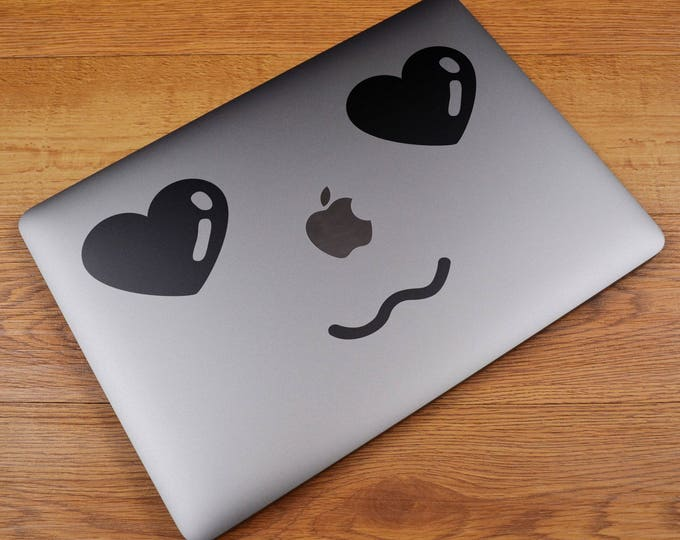 MAC in Love Decal Sticker, Laptop Macbook Skin, Loving Sweet Adorable Fond Enamored Crush Impassioned Cute, Macbook Decal Sticker