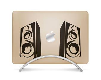 Super Boom Bass Decal Sticker, sticker macbooks vinyl macbook, Decals for music lovers and musicians, mac, Macbook Decal Sticker