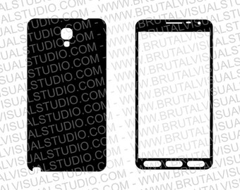 Samsung Galaxy Note 3 Neo 3G SM - N7505 - Skin Cut Template for cutting or machining - Digital Download - Plotter, CNC, Laser Cutter - SVG
