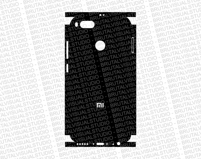 XIAOMI Mi A1 - Skin Cut Template - Templates for cutting or machining - Digital Download - Plotter, CNC, Lasers - SVG - Sliced Version