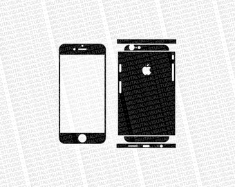Iphone 6 - Skin Cut Template  Ver.7 - Templates for cutting or machining - Digital Download - Plotter, CNC, Lasers - SVG - Fully Sliced 2
