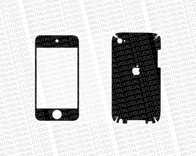 iPod Touch 4 Skin template for cutting or machining - Digital Download | Plotters, CNCs, Laser cutters, Silhouette Cameo, Cricut | 11 Files