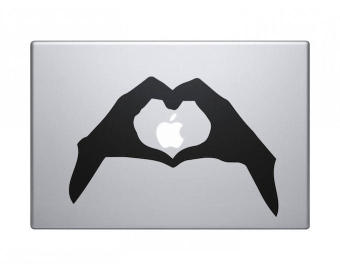 I Love my Laptop Decal, Hands Love Sign in vinyl, Hand Gestures, mac, Macbook Decal Sticker