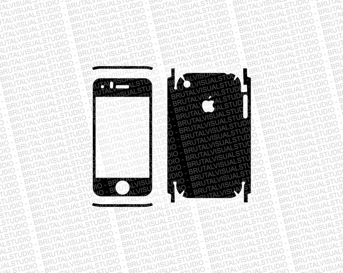Iphone 3G - Skin Cut Template - Templates for cutting or machining - Digital Download - Plotter, CNC, Laser Cutter - SVG - Full Wrap