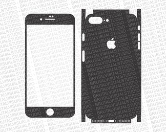 Iphone 8 Plus - Skin Cut Template  - Templates for cutting or machining - Digital Download - Plotter, CNC, Laser Cutter - SVG - Full Wrap