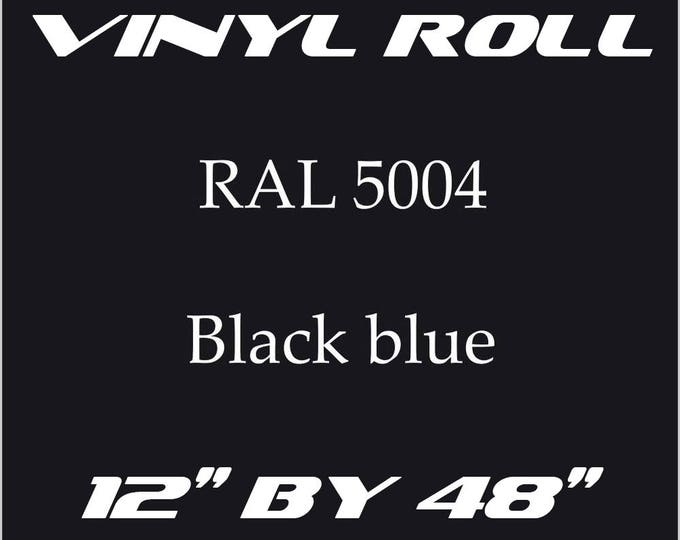Night Blue - RAL 5004 - Gloss Vinyl Roll - 5 Year Durability Indoors or Outdoors - 75 Microns - Adhesive Vinyl, Cricut Vinyl, Outdoor Vinyl