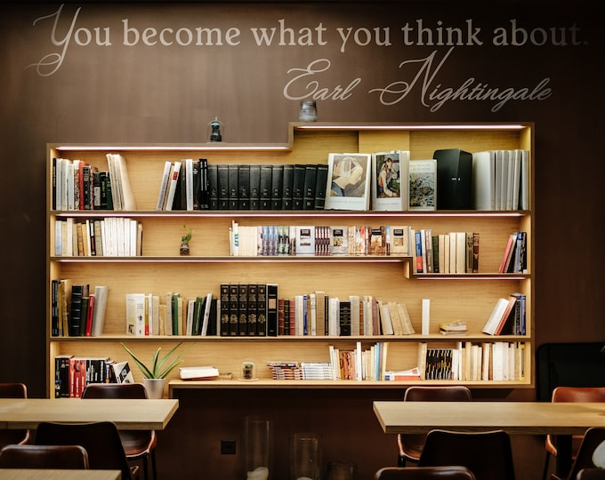 You become what you think about, Vinyl Decal for walls or windows - Sticker collection for home improvement, Earl Nightingale Quote