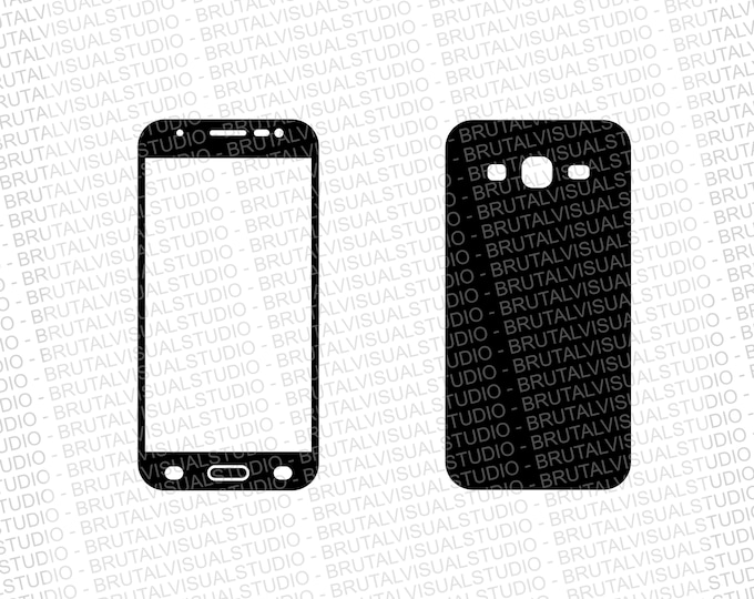Samsung Galaxy J5 2015 - Skin Cut File Template - Templates for cutting or machining - Digital Download - Plotter, CNC, Lasers - Svg Cdr Ai