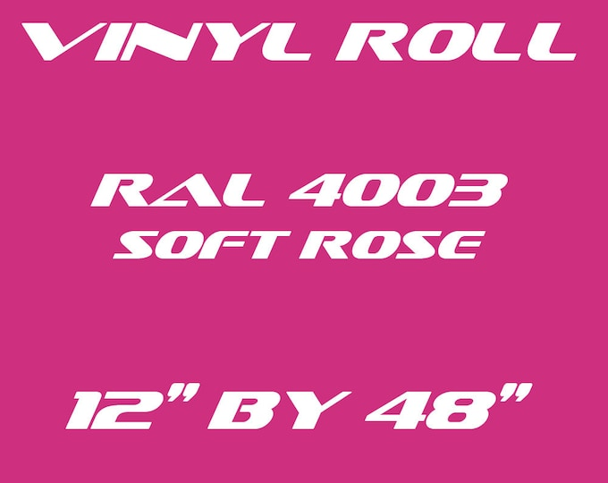 Soft Rose Pink - RAL 4003 - Gloss Vinyl Roll - 5 Year Durability Indoors or Outdoors - 75 Microns