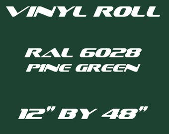 Pine Green - RAL 6028 - Matte Vinyl Roll - 5 Year Durability Indoors or Outdoors - 75 Microns