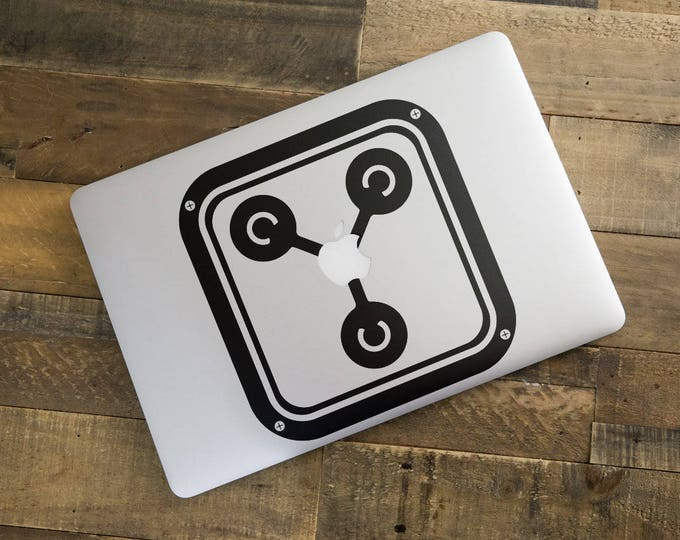 Flux Capacitor Decal Sticker, Funny laptop decal, Time Travel, mac, Macbook Decal Sticker