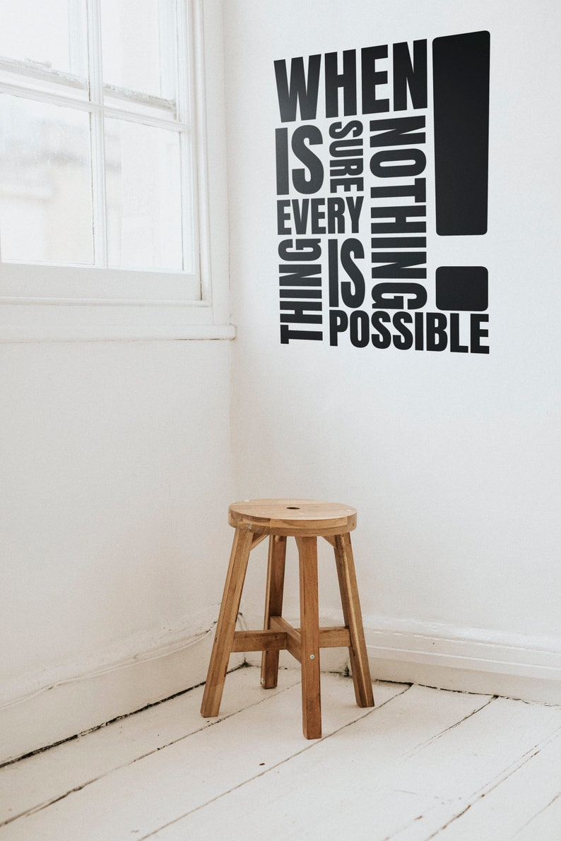 SVG  When nothing is sure everything is possible // Digital image 0