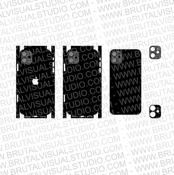 Iphone 11 - Skin Cutout Template  - Templates for cutting or machining - Digital Download - Plotter, CNC, Laser Cutter - SVG - Full Wrap
