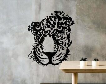 Face de Leopardo - Decalque autocolante decorativo em Vinil