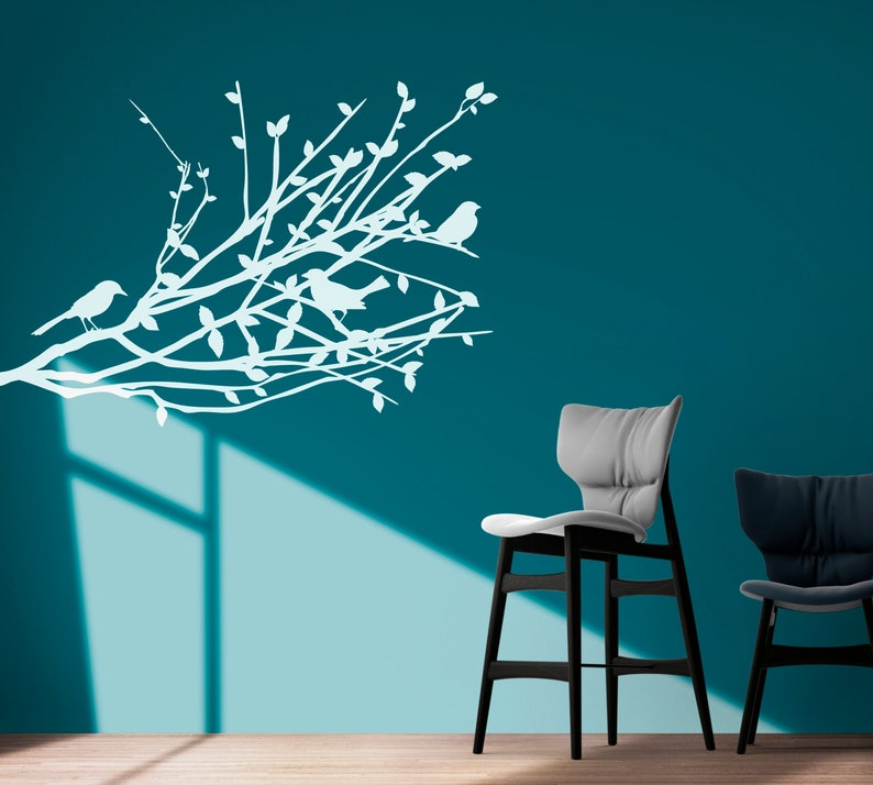 SVG  Birds on a Tree Branch // Vector // Universally image 0