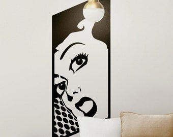 Surprised woman in retro style - Vinyl Sticker Decal