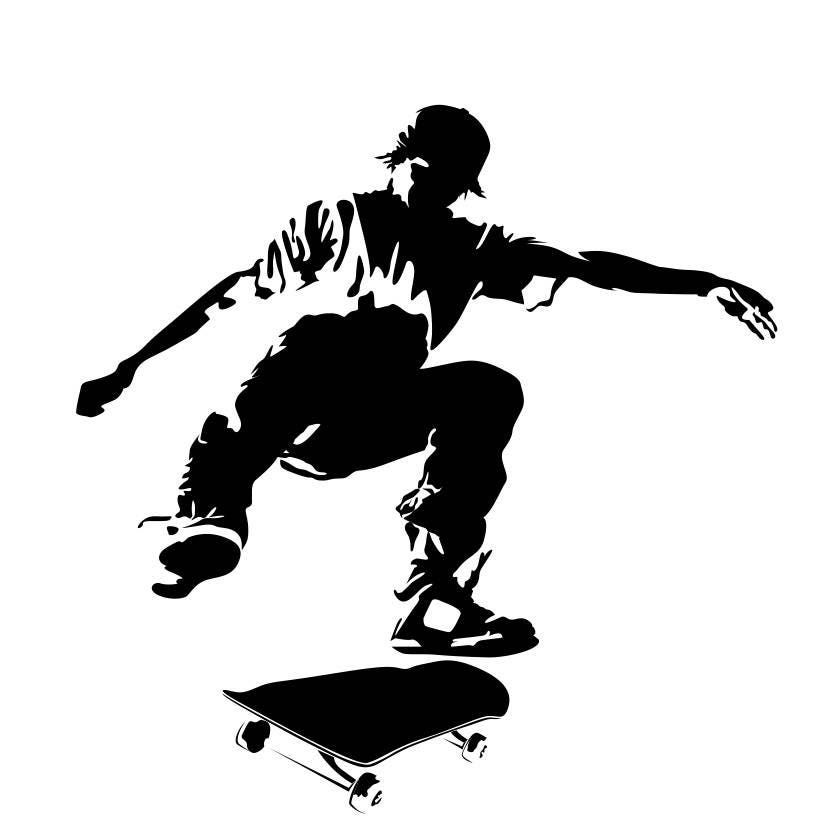a4b447b4df0d ... Epic Decals for wall decor, Roller, Skates, Fearless Audacious  Courageous Strong Daring Sports Skate. gallery photo gallery photo ...