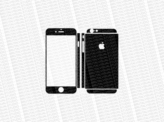 Iphone 6 - Skin Cut Template  Ver.8 - Templates for cutting or machining - Digital Download - Plotter, CNC, Lasers - SVG - Fully Sliced