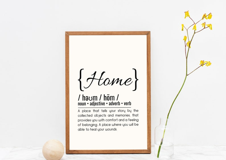 Home Definition // Printable Typography // High Resolution // image 0