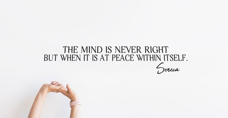 SVG  The mind is never right but when it is at peace within image 0
