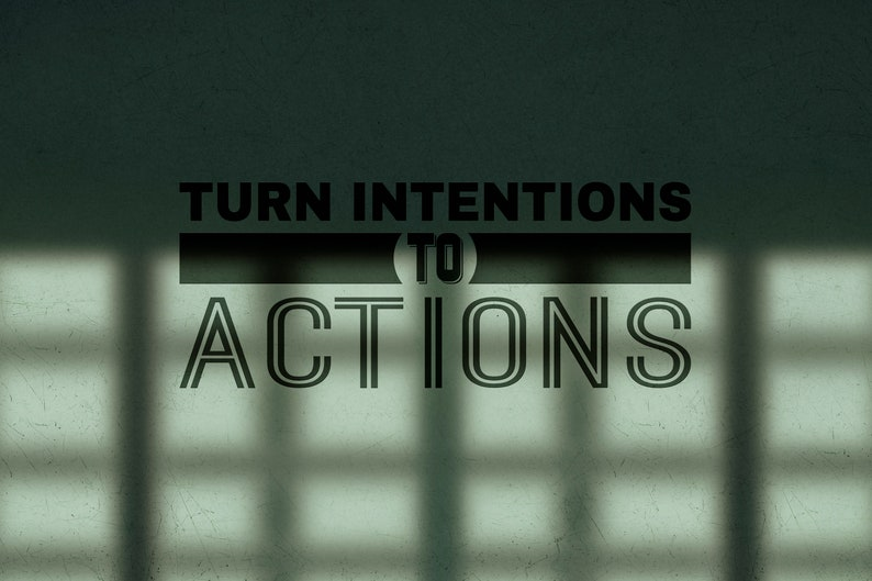 SVG  Turn intentions to actions Vector Typography // Cut image 0