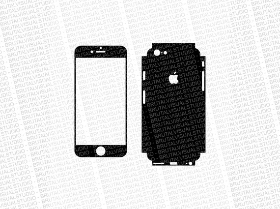 Iphone 6 - Skin Cut Template  Ver.3 - Templates for cutting or machining - Digital Download - Plotter, CNC, Lasers - SVG - Full Wrap 2