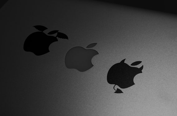 Heaven and Hell Decal Sticker, MAC, Devil, Angel, Good, Bad, Devil Tail, Bad Apple, Macbook Decal, Funny, Macbook Decal Sticker