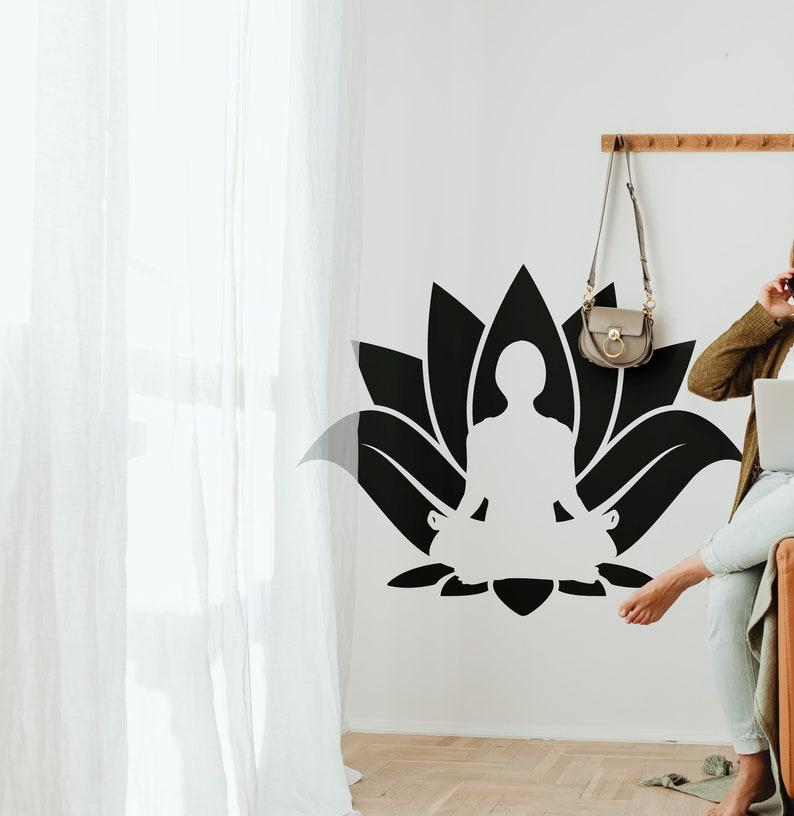 SVG  Lotus Flower Meditation // eps pdf psd dxf jpg png bmp image 0