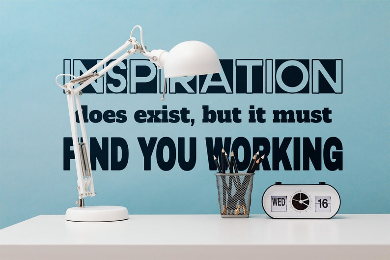 SVG  Inspiration does exist but it must find you working // image 0