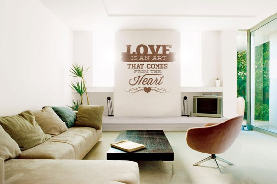Love is an Art that comes from the heart, Vinyl Decal for walls or windows - Sticker collection for wall decor and home improvement