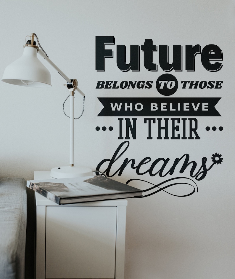 SVG  Future belongs to those who believe in their dreams // image 0